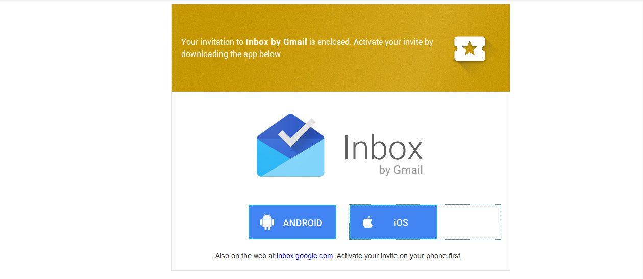 Invitacion Inbox Google