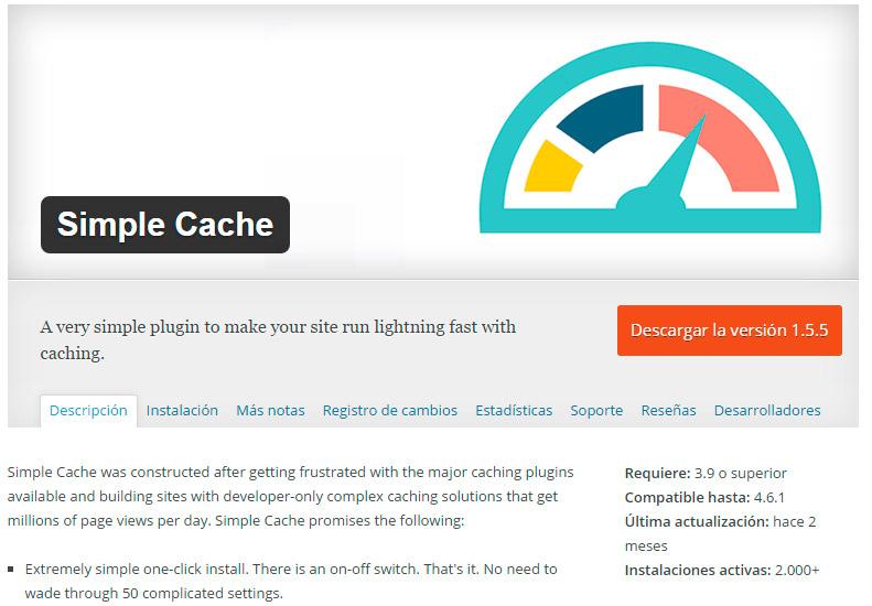 SimpleCache WordPress