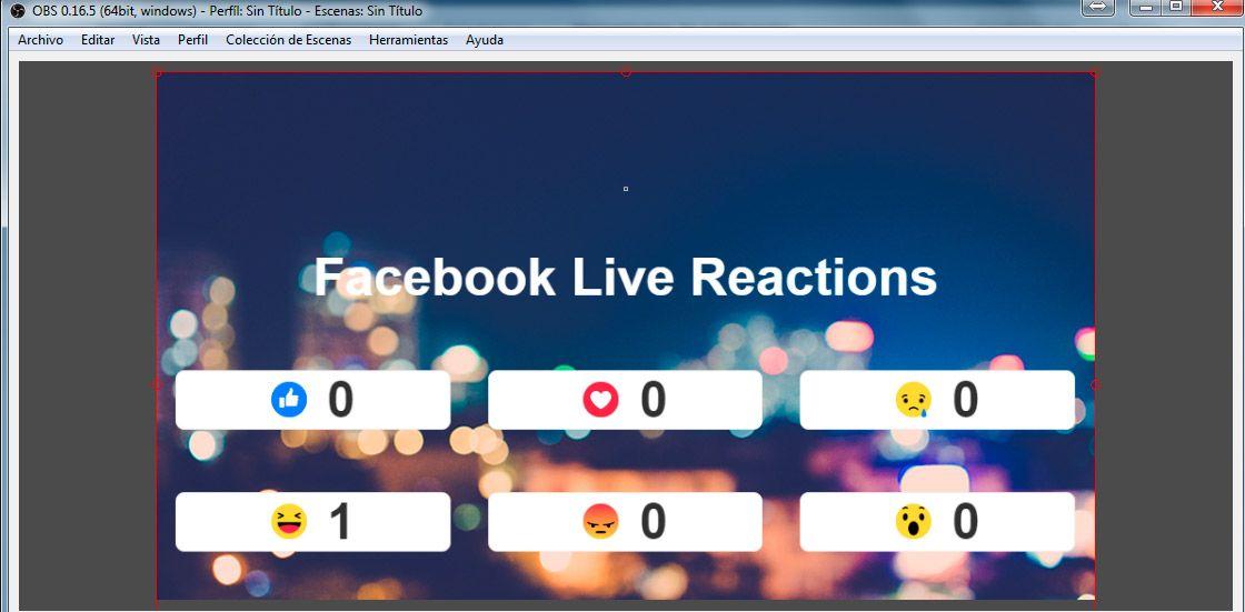 Facebook Live con Contadores en Tiempo Real en página local