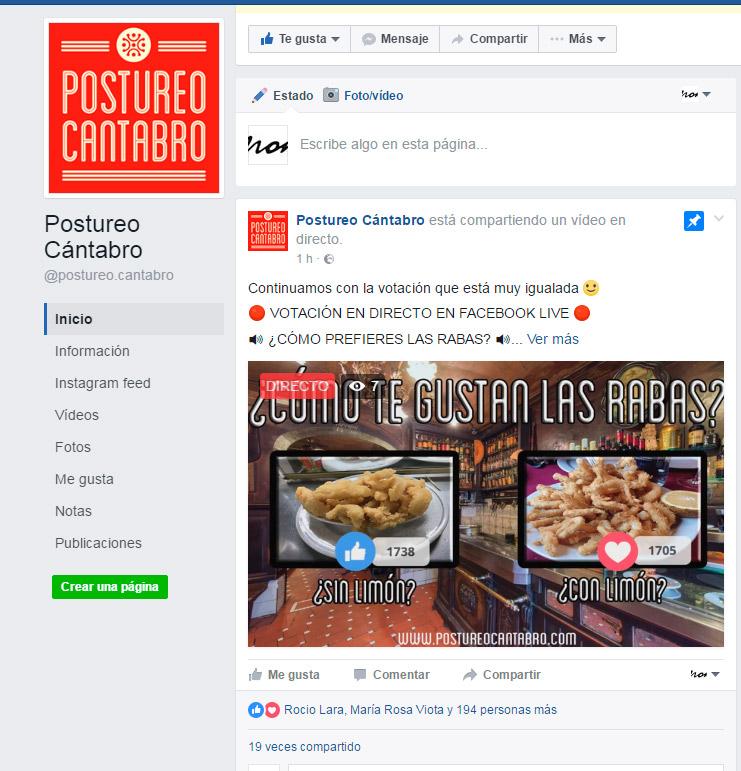 Facebook Live con Contadores postureocantabro.com