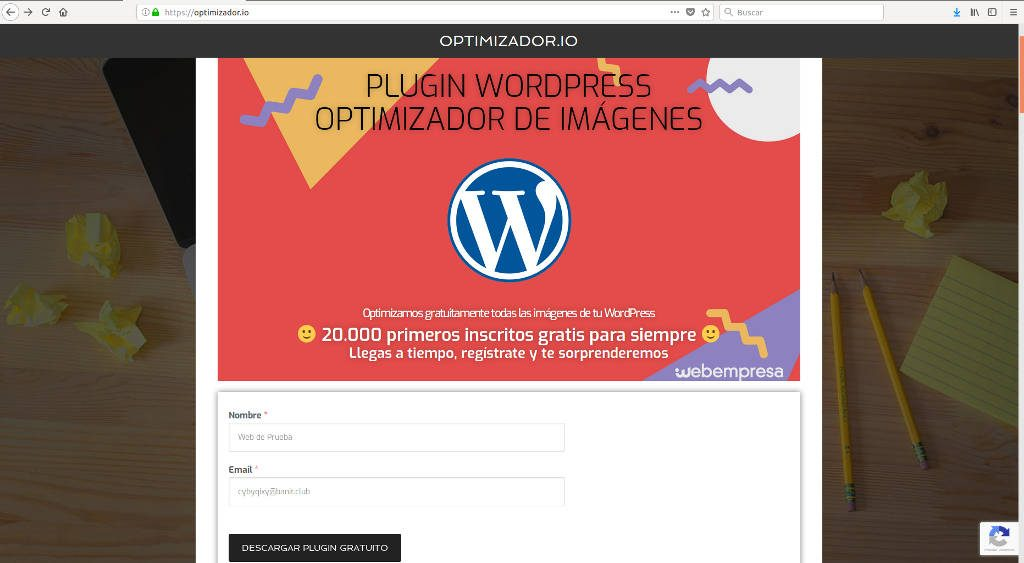 Optimizador Imágenes WorPress - Optimizador.io