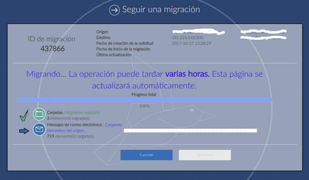 MIgración Correos de Servidor