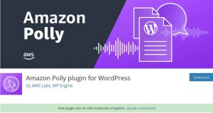WordPress Amazon Polly