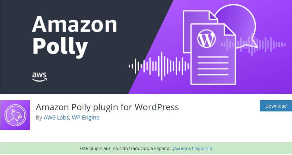 WordPress Amazon Polly