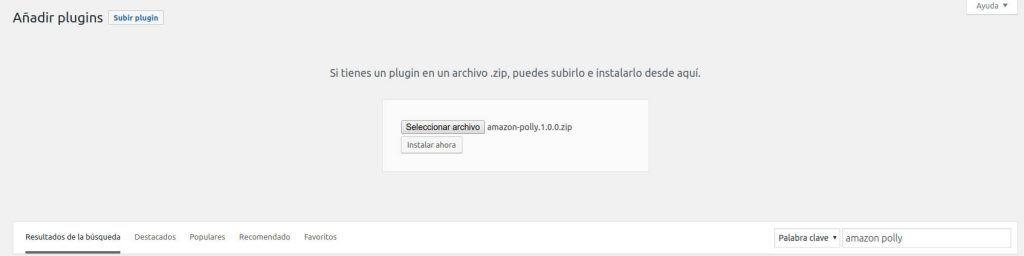Instalación Amazon Polly