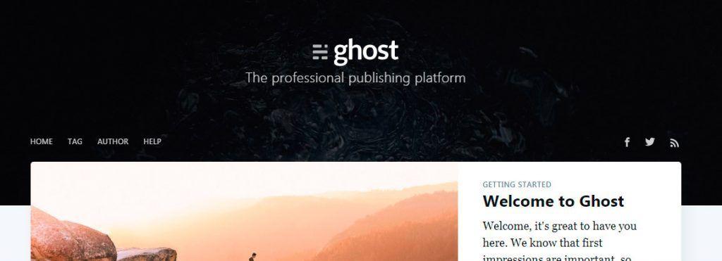 Ghost Instalado