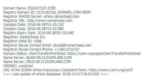 Dominios tiendas online falsas