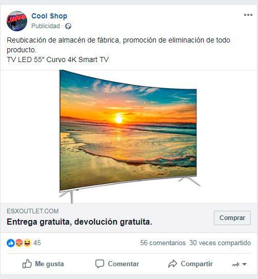 Tiendas online Falsas