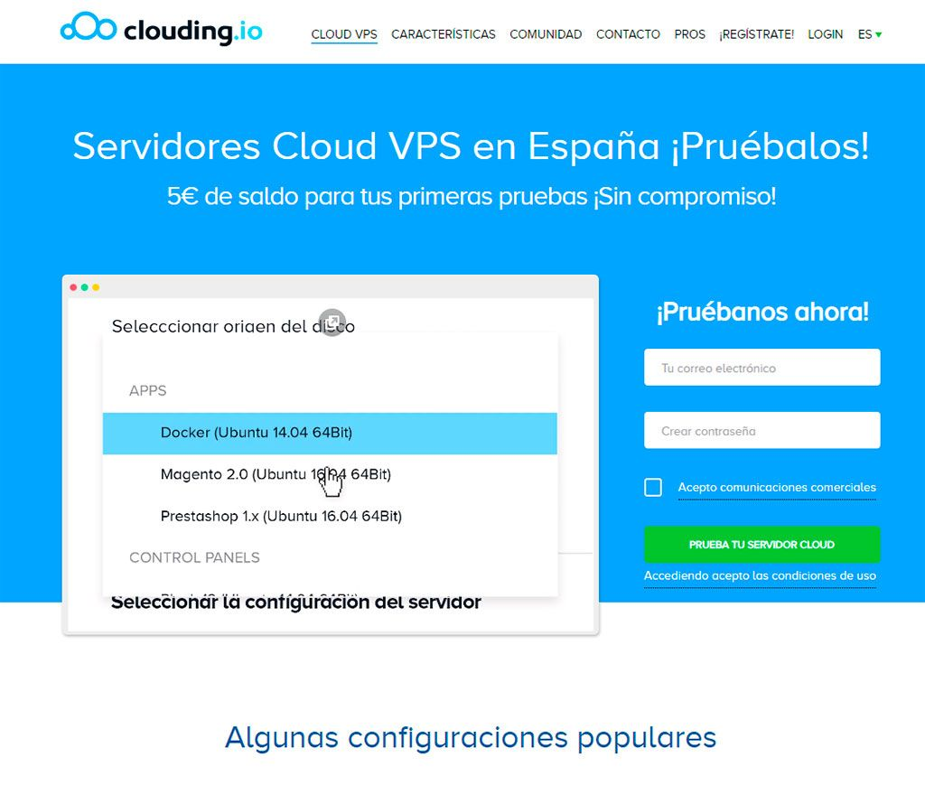 Hosting WordPress en VPS - Clouding.io