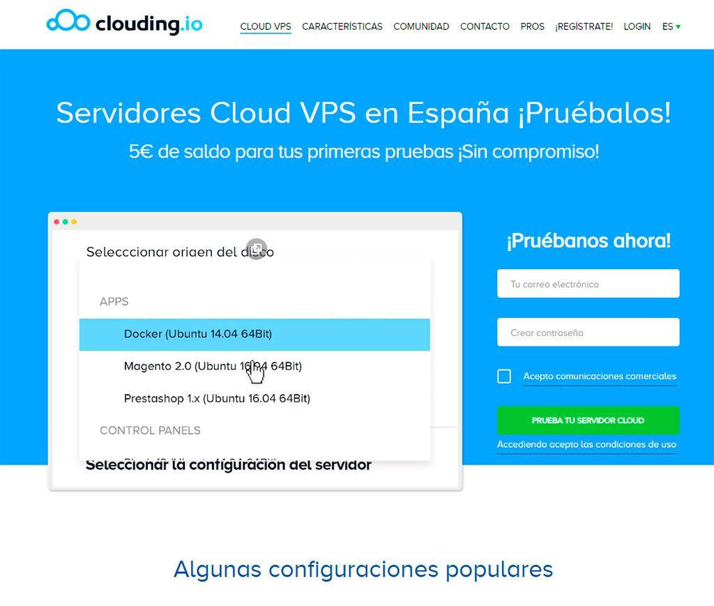 Hosting WordPress en VPS - Clouding.io