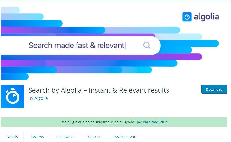 Algolia WordPress Plugin