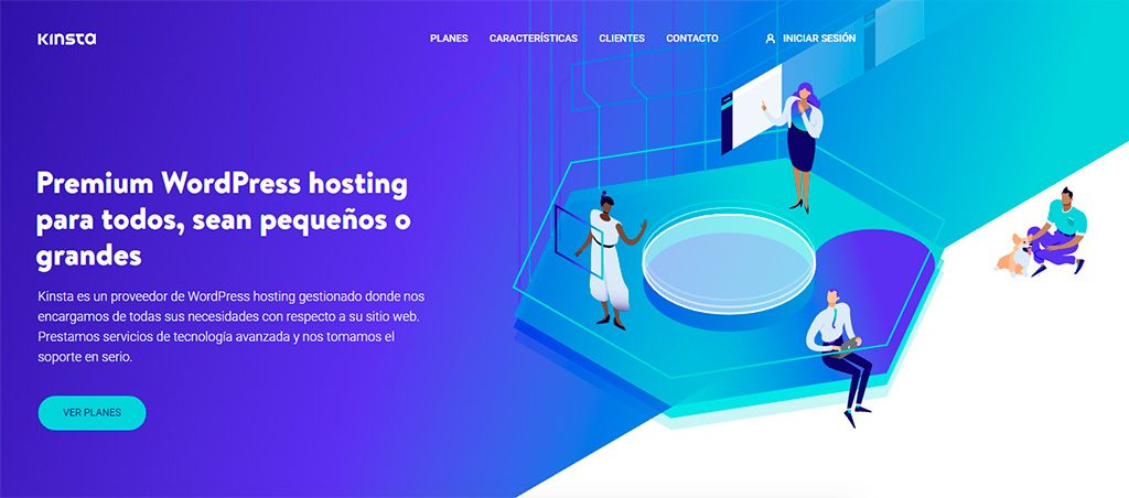Kinsta - Hosting optimizado para WordPress