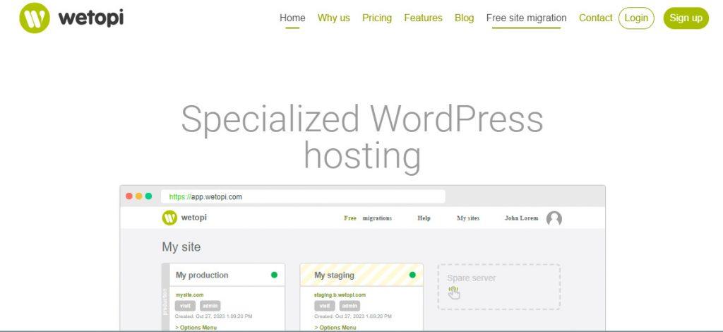 Wetopi - Hosting Optimizado para WordPres