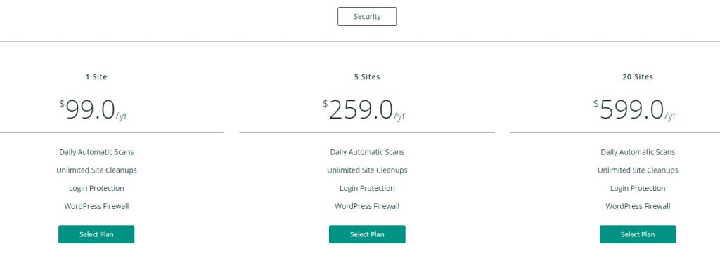 Malcare Security WordPress - Plugin seguridad - Planes de precios