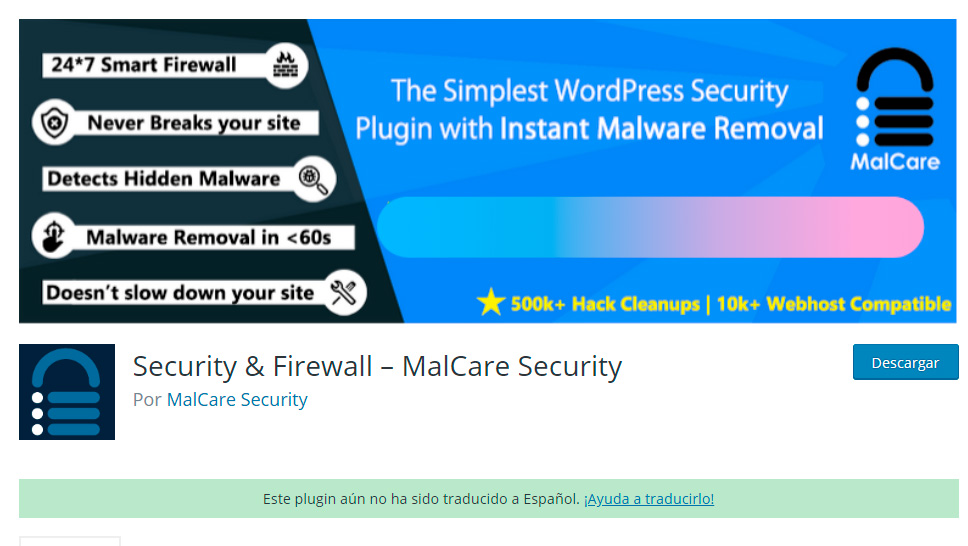 Malcare Security WordPress - Plugin seguridad