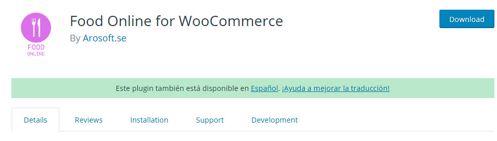 Food Online for Woocommerce Plugin