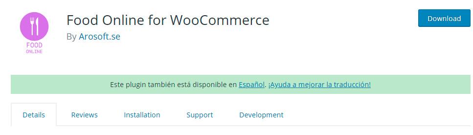 Food Online for Woocommerce Plugin