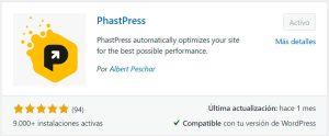 Plugin WordPress WPO - PhastPress